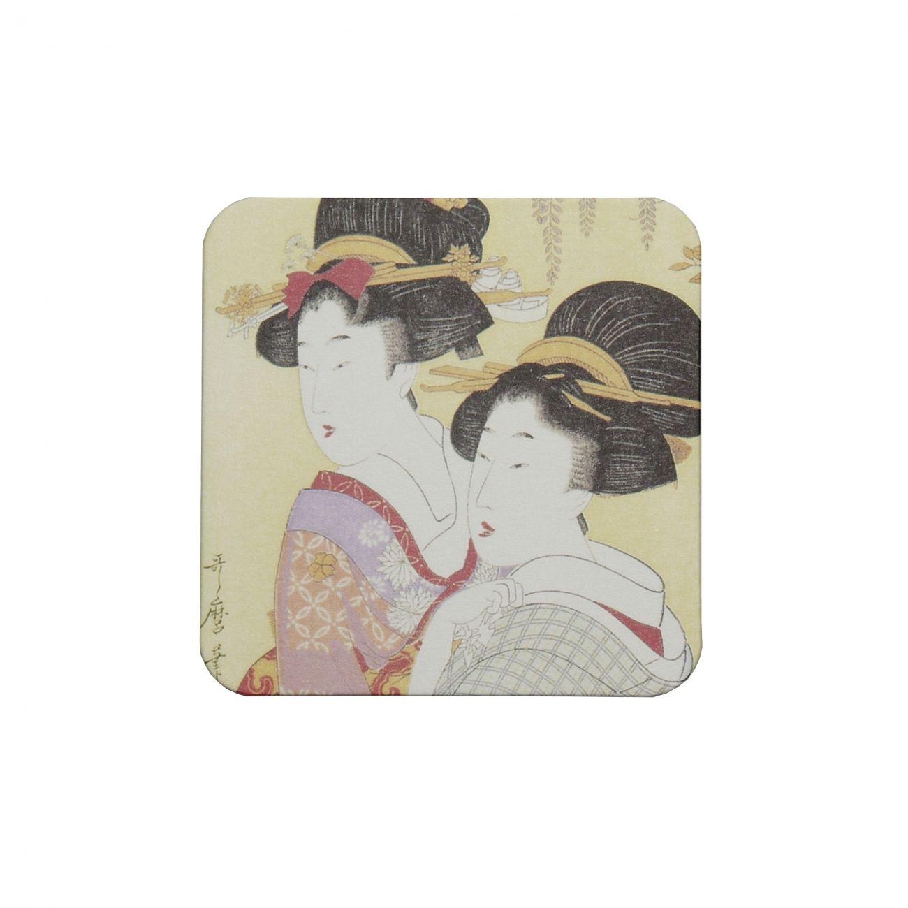 Ukiyoe Coaster Utamaro