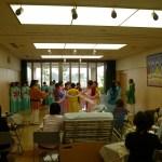 緩和ケアホーム『飛鳥』にて三宅町天平の舞披露