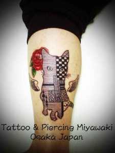 miyawaki tattoo cat