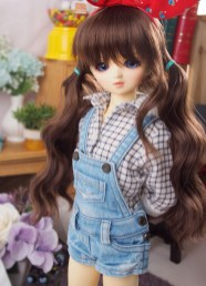 1_4 bjd msd Size 16.5in dungarees clothing washing sky blue jean shorts pants for ball jointed doll_01