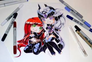 syndra_and_katarina_by_lighane-d9rl1zk