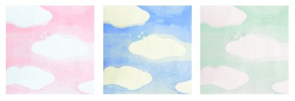 空 雲 キラキラ イラスト