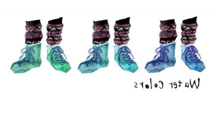 水彩 靴 メンズ