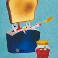 トースター パン レスラー イラスト