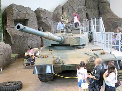 りっくんランド再開館2020「Before館内90式戦車」