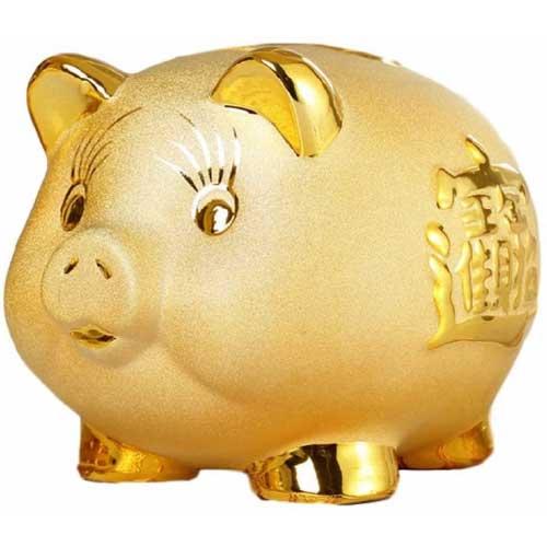 金の貯金箱「ブタ」