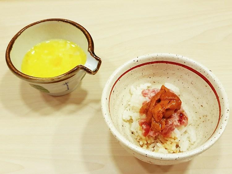 Hanabi Maguro Uni Rice with Onsen Egg at Miyu