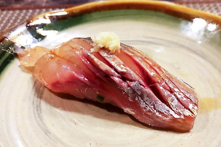 Aji sushi - Aged Mackerel sushi