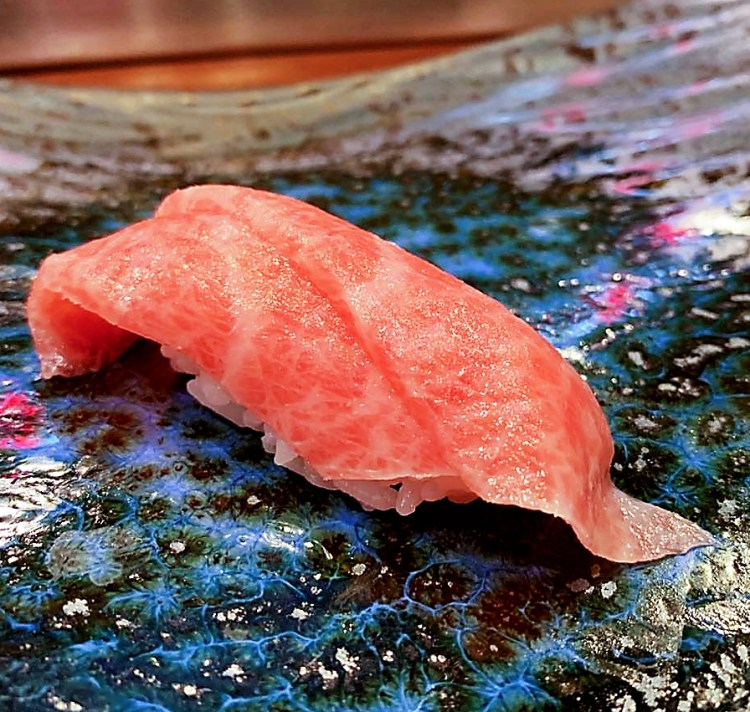 Maguro Nigiri - Bluefin Tuna sushi at Miyu