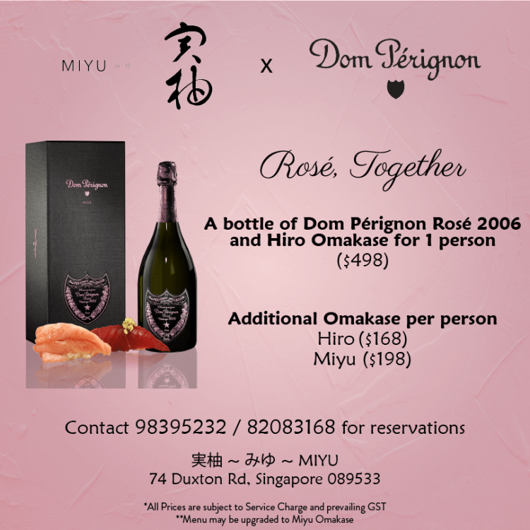 Miyu and Dom Pérignon Champagne (MHD Moët Hennessy Diageo), Rose Together
