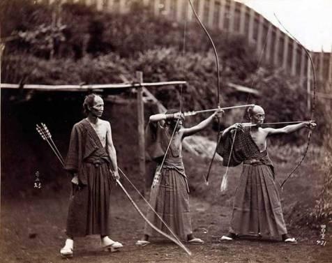 Arqueros japoneses en 1860