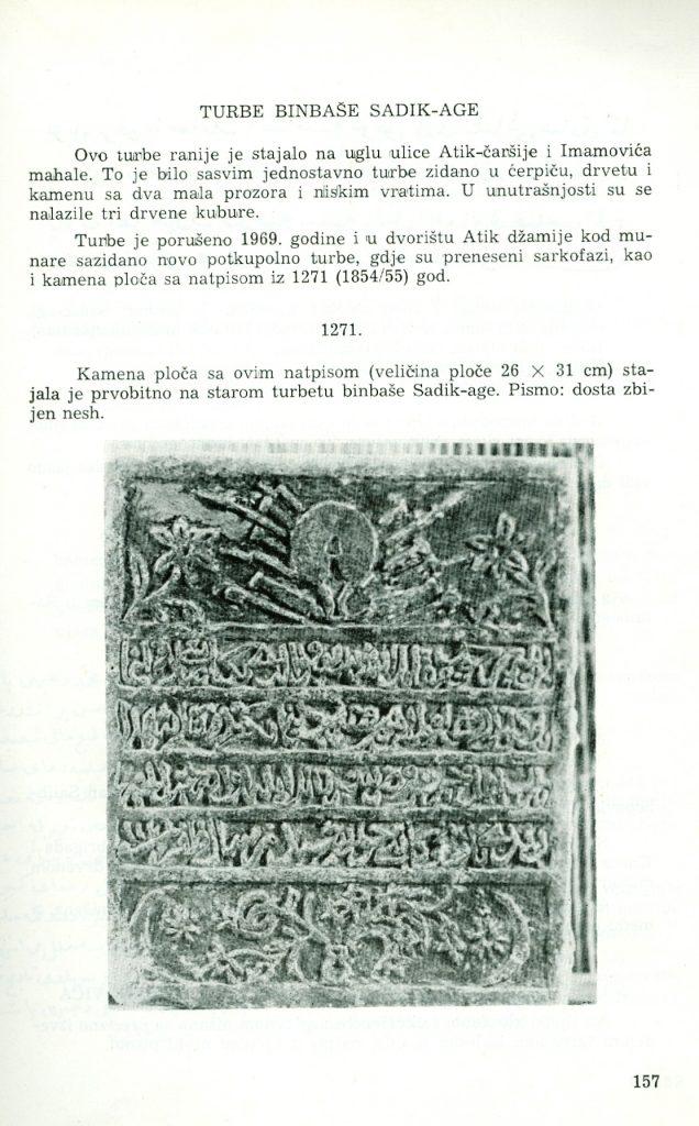 BIJELJINSKI TARIHI – Iz knjige Hadži Mehmed ef. Mujezinovića – ISLAMSKA EPIGRAFIKA U BOSNI I HERCEGOVINI