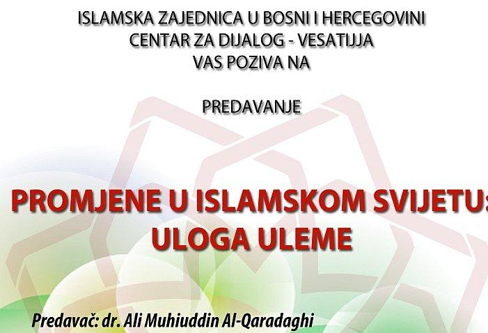 """Sarajevo: Predavanje """"Promjene u islamskom svijetu: Uloga uleme"""""""