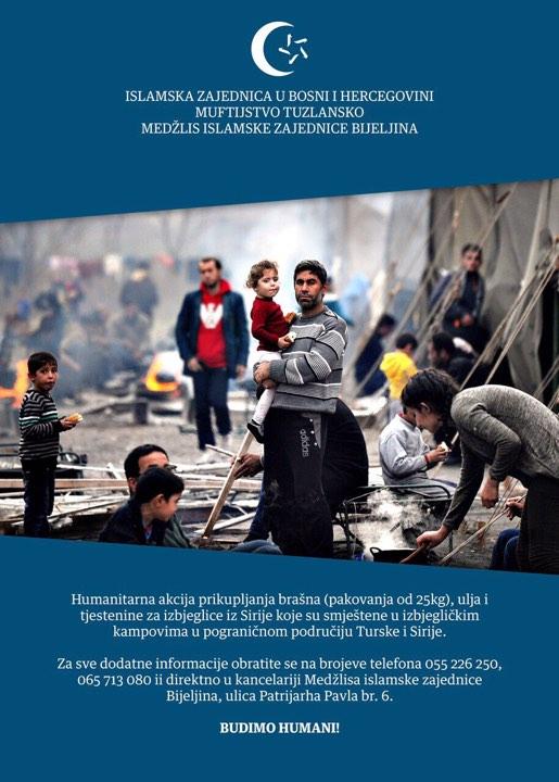 Budimo humani: Pomoć narodu Sirije u izbjegličkim kampovima na području Turske