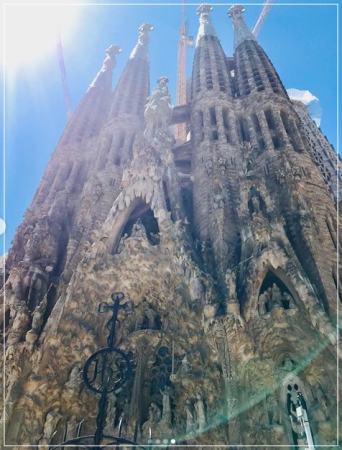 スペインバルセロナのガウディ建築の代表サグラダファミリア