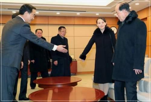 金正恩の妹・金与正が韓国を訪れた時の画像