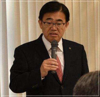 大村秀章知事が挨拶している画像