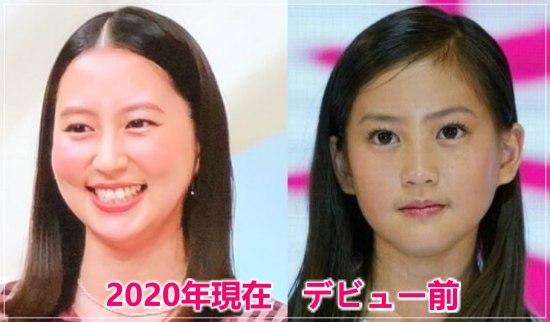 河北麻友子のデビュー前の美少女コンテストの時と2020年現在の顔画像比較