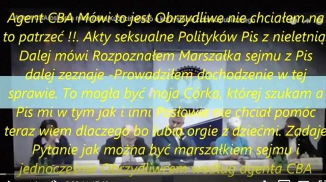 [PILNE!!]  – Pis 2 Cześć Akty Seksualne z Nieletnią -Agent CBA Donosi Telewizja Polska