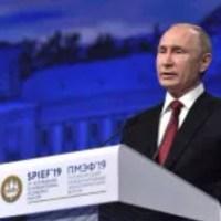 Putin ogłosił doktrynę globalnej konfrontacji z US - Petesburg wazne przemówienie materiał z czerwca 2019r
