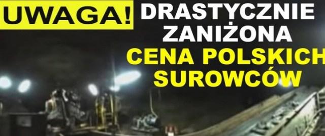 UWAGA! Drastycznie zaniżona cena polskich surowców | K. Tytk