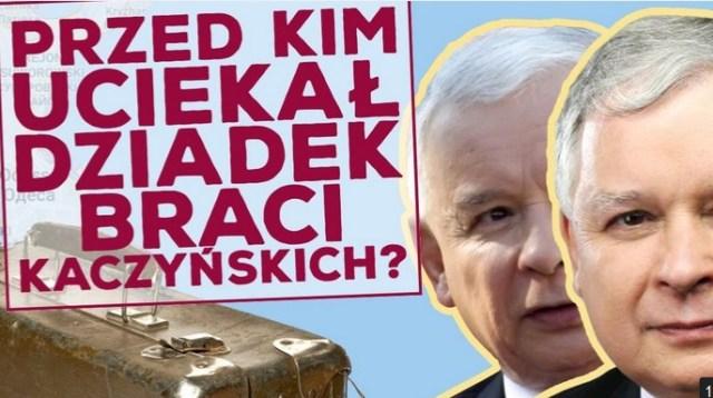 Z jakiego powodu dziadek i babcia braci Kaczyńskich przybyli do Polski