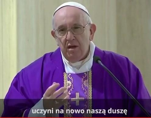 Papież Franciszek mówi o spowiedzi w dobie koronawirusa