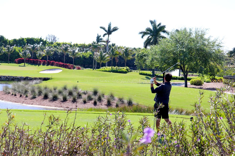 Golf course in south Florida