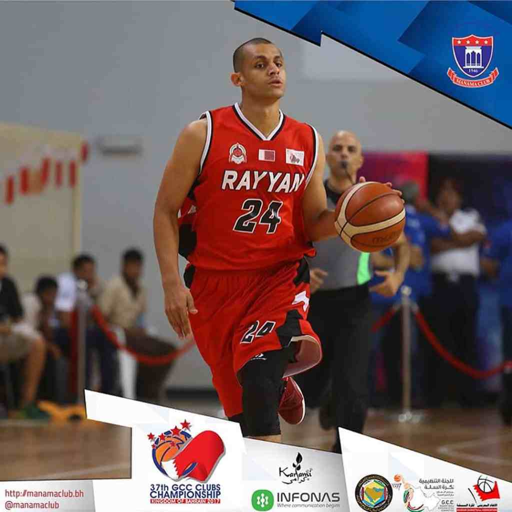 Mizo Amin jersey # 24 attacking for Al Rayyan SC