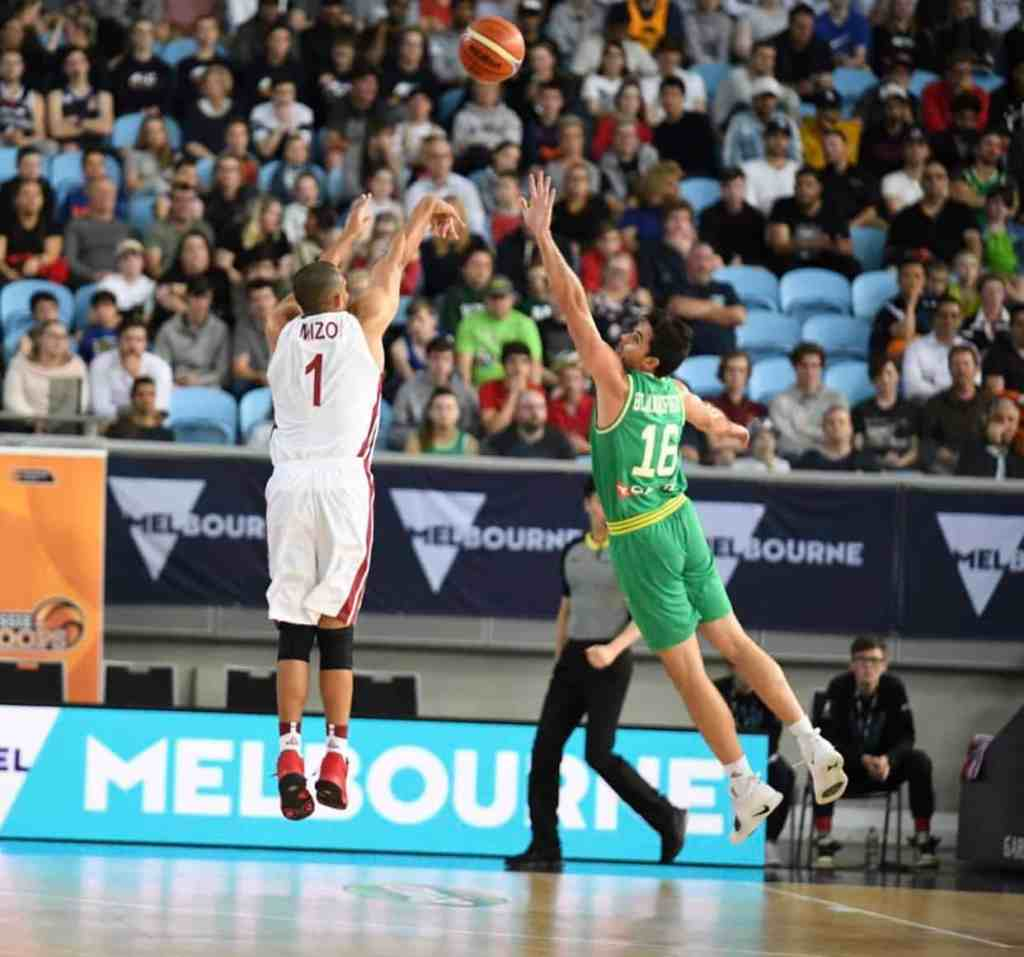 Mizo Amin #1 aka (Mohamed Hassan A Mohamed) 3 Points Step Back Good vss Australia Guard #18