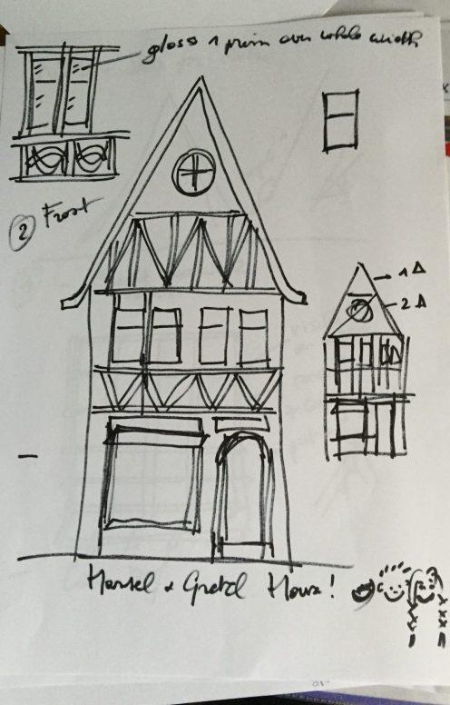 Fachwerk house sketch 1