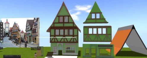 Fachwerk house in production
