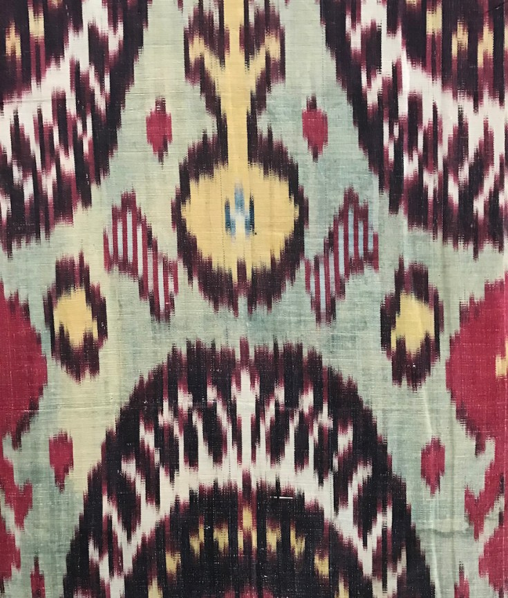 Ikat panel, second half 19th Century, Uzbekistan