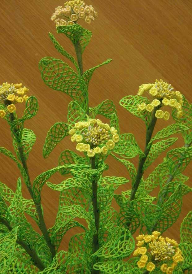 水引アート生徒 作 菜の花 「うららかな春」 写真
