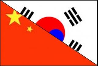 韓国 中国 Flag