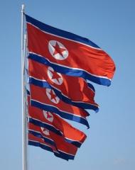 北朝鮮 Flag