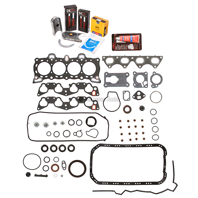 Full Gasket Set Bearings Rings Fit 88-91 Honda CRX Civic 1