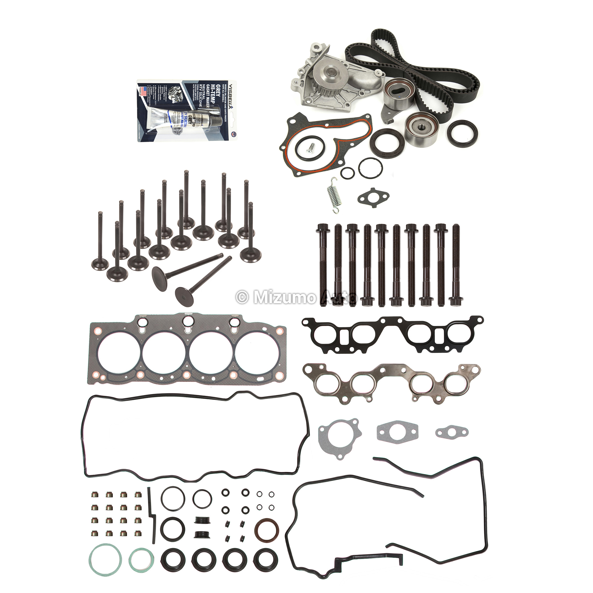 Head Gasket Set Valves Timing Belt Kit Fit 92 96 Toyota