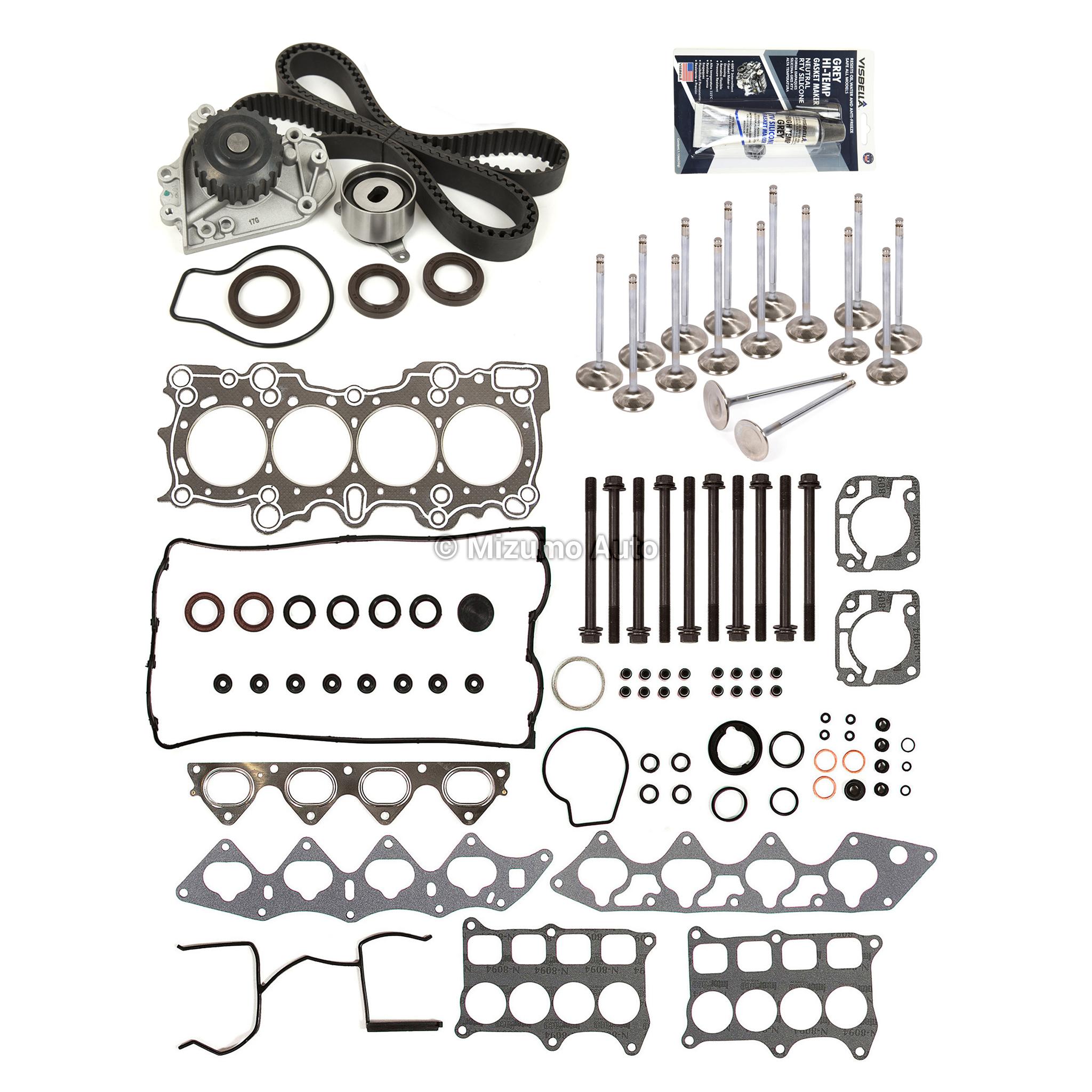 Head Gasket Set Valves Timing Belt Kit Fit 94 01 Acura
