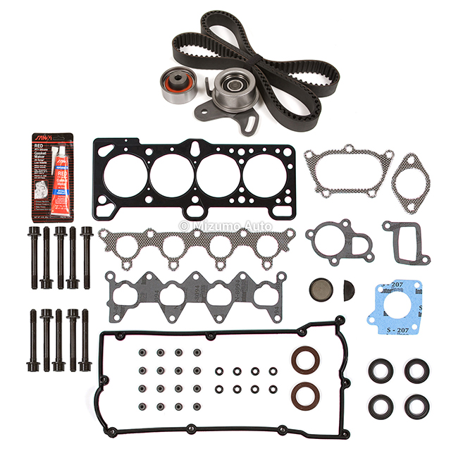 Head Gasket Set Timing Belt Kit Fit 01-05 Hyundai Accent 1