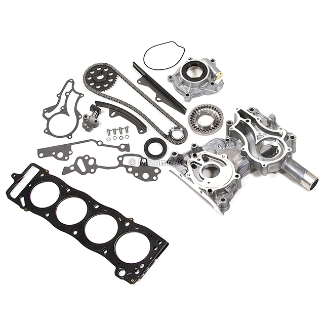 Timing Chain Kit Metal Guides Cover Oil Pump MLS Head