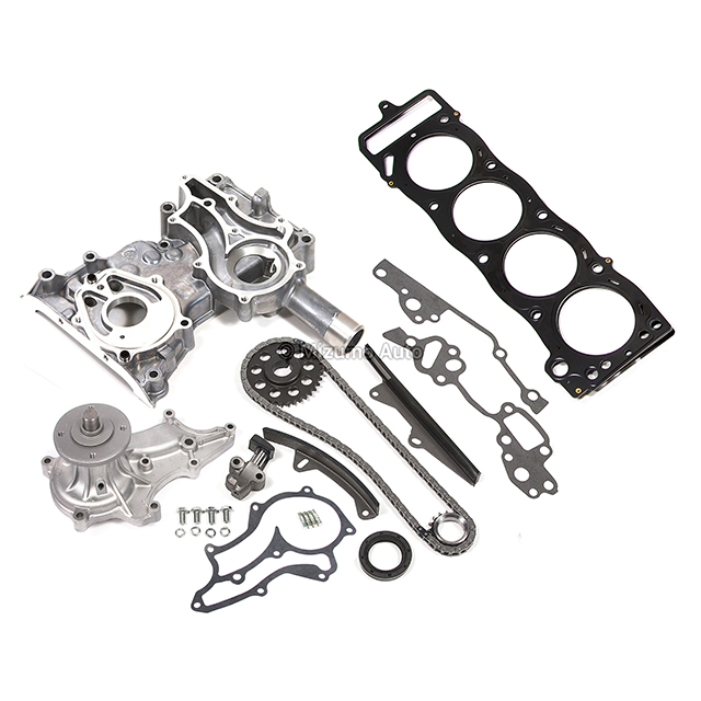 Timing Chain Kit Metal Guides Cover Head Gasket Water Pump