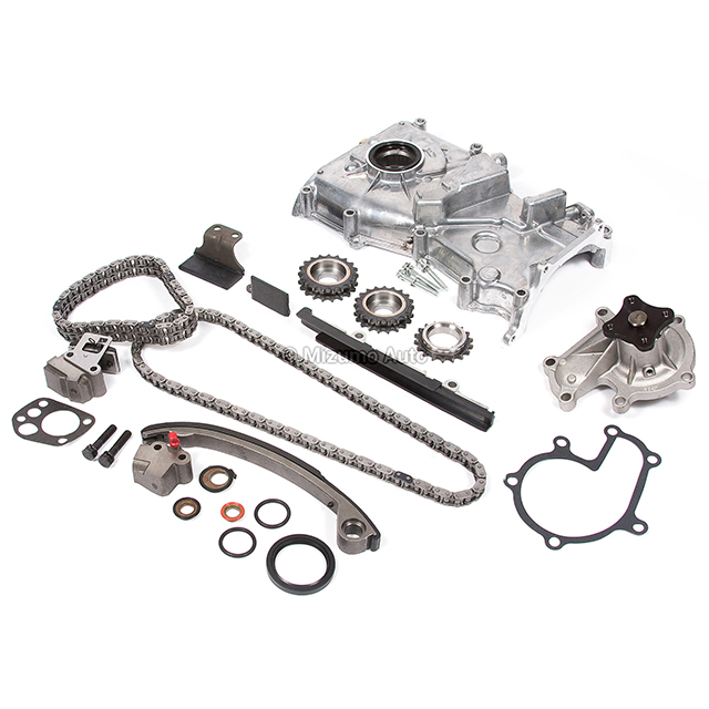 Timing Chain Kit w/o Idler Gear Water Oil Pump Fit 91-97