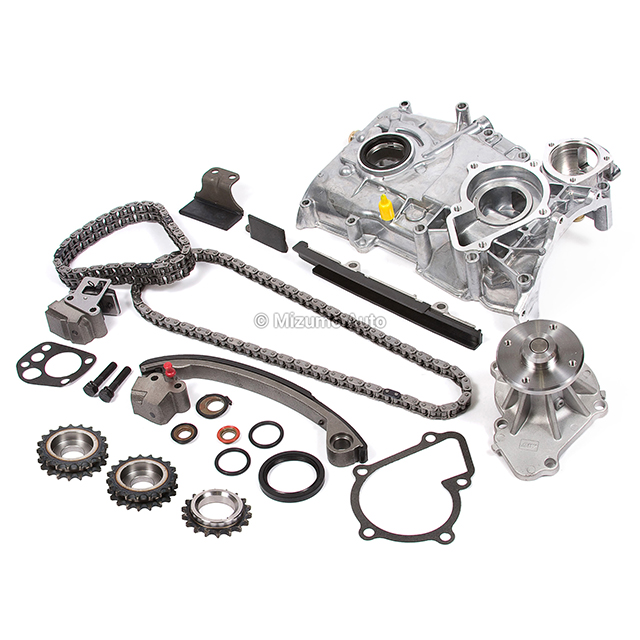 Timing Chain Kit w/o Idler Gear Water Oil Pump Fit 91-98