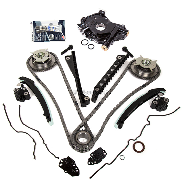 Timing Chain Kit Cam Phaser Oil Pump Fit 04-10 Ford F150 5