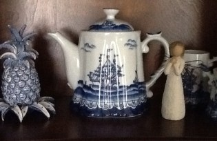 A shelf from my china cabinet