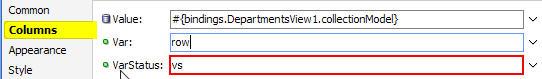 Display row number in af:table