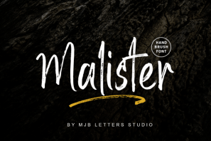 Malister | Strong Handbrush Font