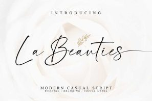 La Beauties / Casual Handwritten Font