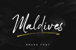 Maldives Handbrush Font